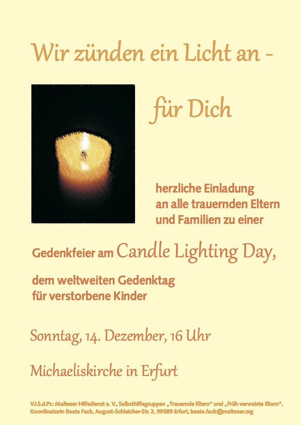 Candle lighting day 2014- Plakat